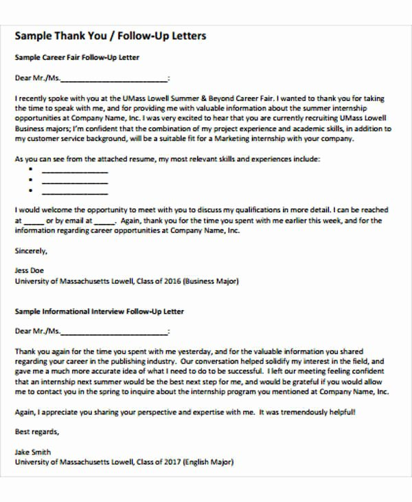 Follow Up Letter Template Awesome Follow Up Letter Template 9 Free Sample Example format