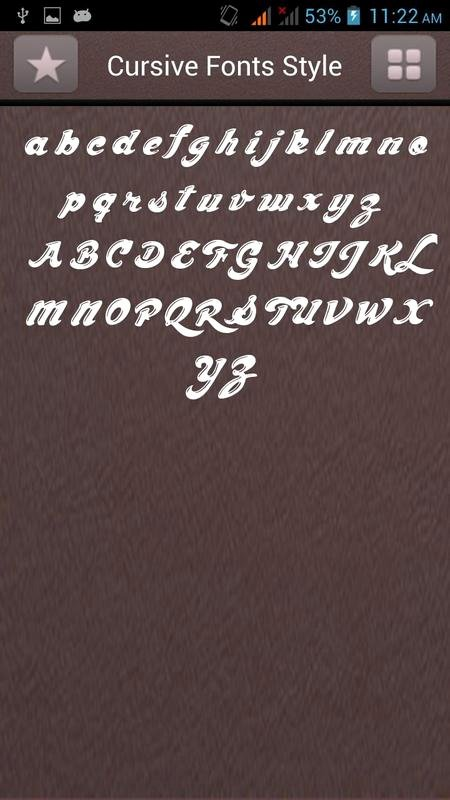 Fonts Style for android Beautiful Cursive Fonts Style for android Apk Download