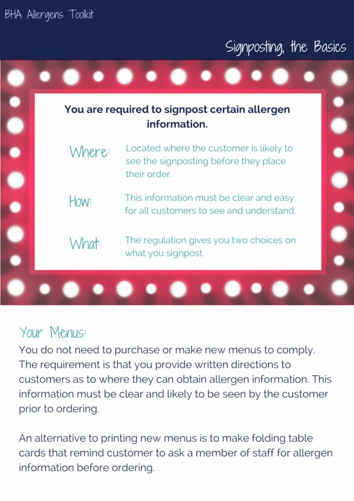 Food Allergy List Template Elegant Bha Allergen toolkit British Hospitality association