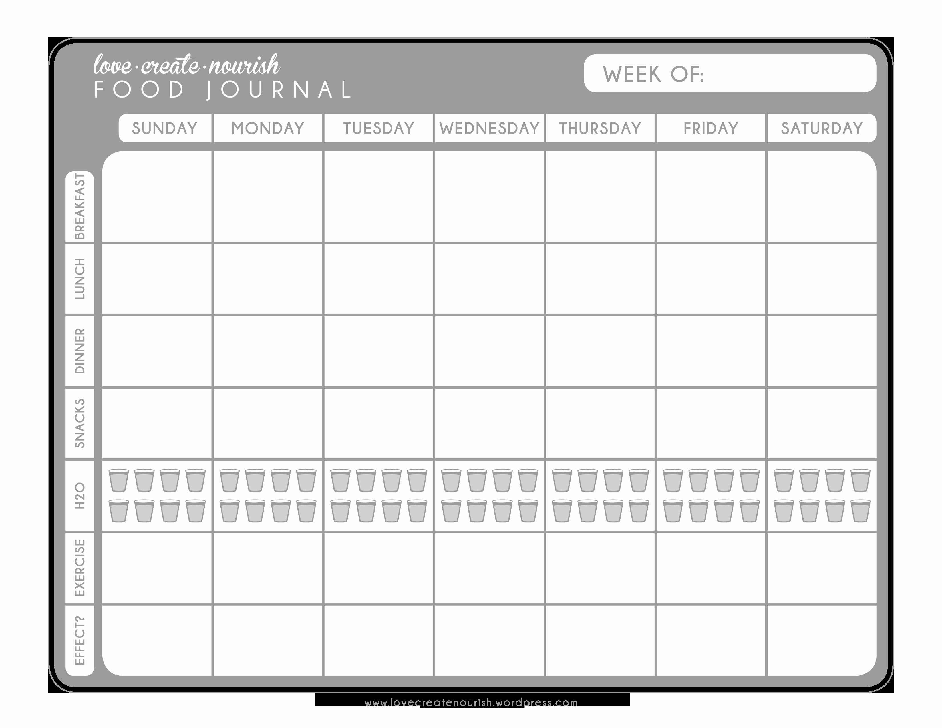 Food and Activity Log Inspirational A Matter Of Discipline Free Weekly Food Journal