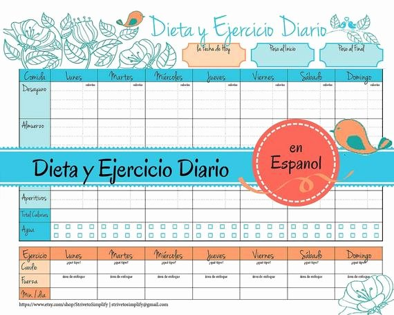 Food and Activity Log Lovely Weight Loss Journal En Espanol Food Diet Exercise Log In