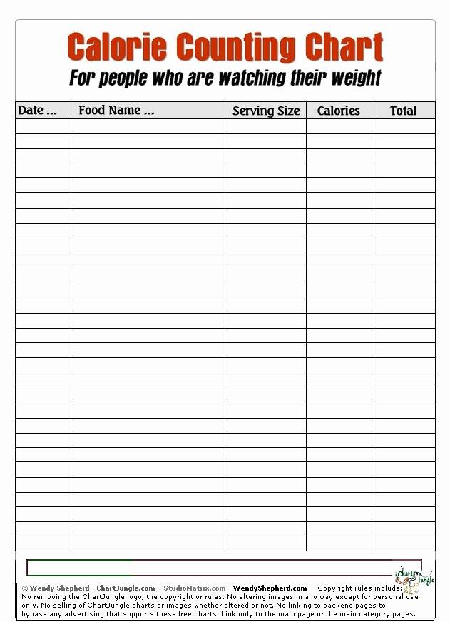 Food Calorie Chart Inspirational Calorie Counting Chart Beauty Pinterest
