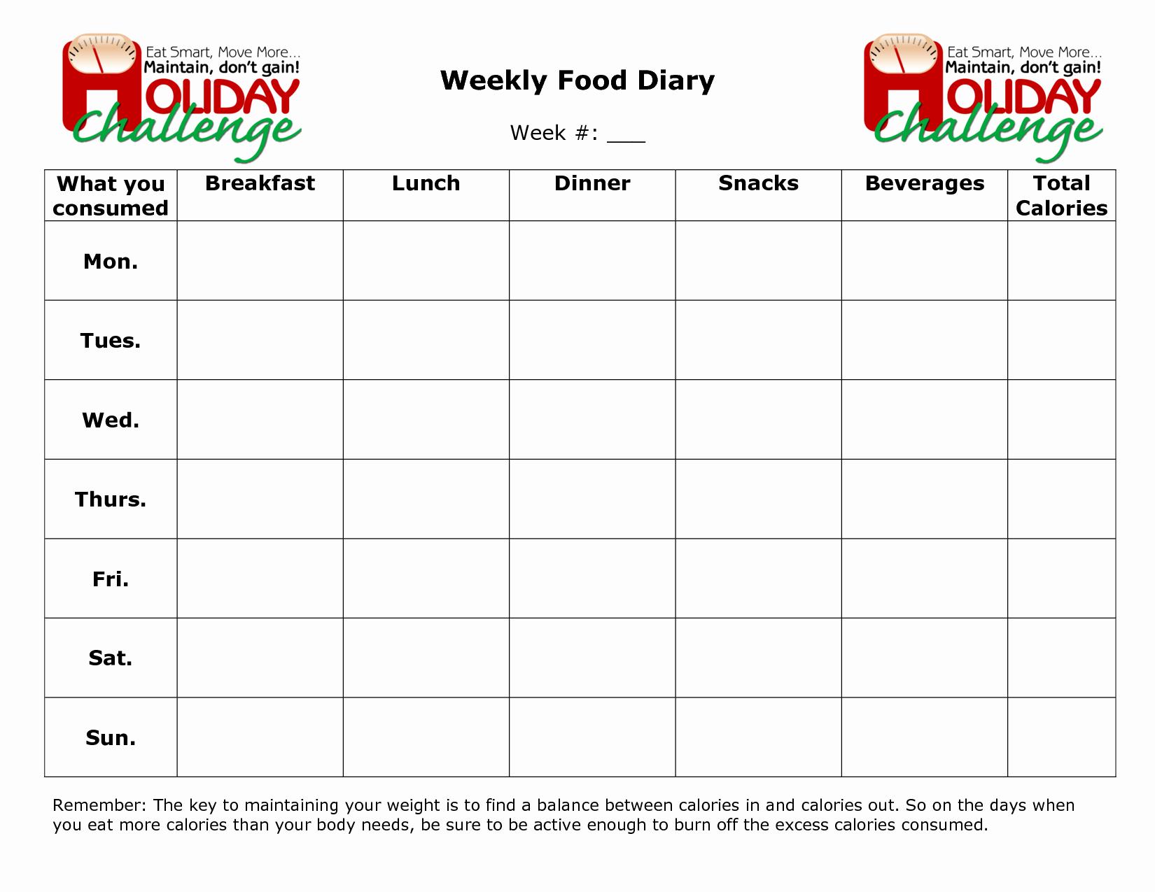 Food Log Template Excel Beautiful Best S Of Weekly Food Log Excel Weekly Food Diary