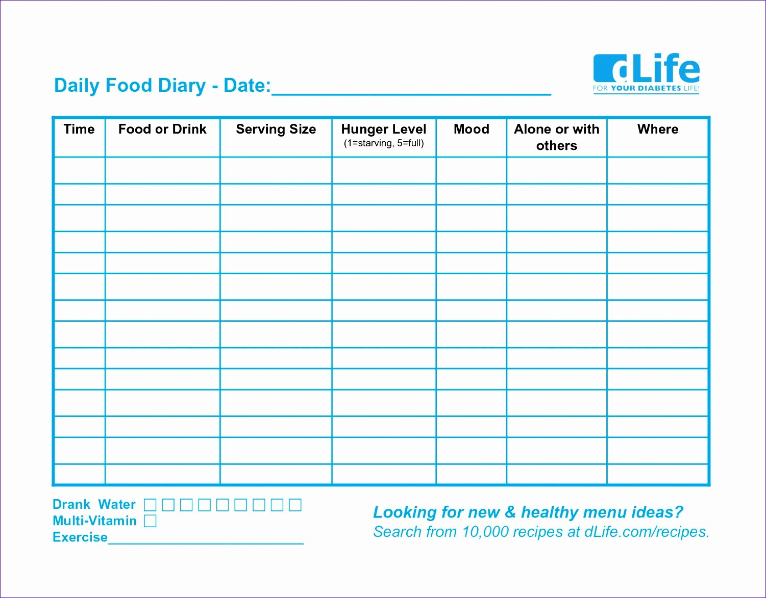 Food Log Template Excel Luxury 12 Excel Food Diary Template Exceltemplates Exceltemplates
