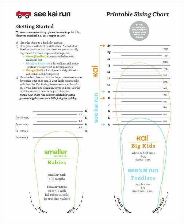 Foot Measurement Chart Printable Beautiful 28 Of toddler Foot Measurement Template