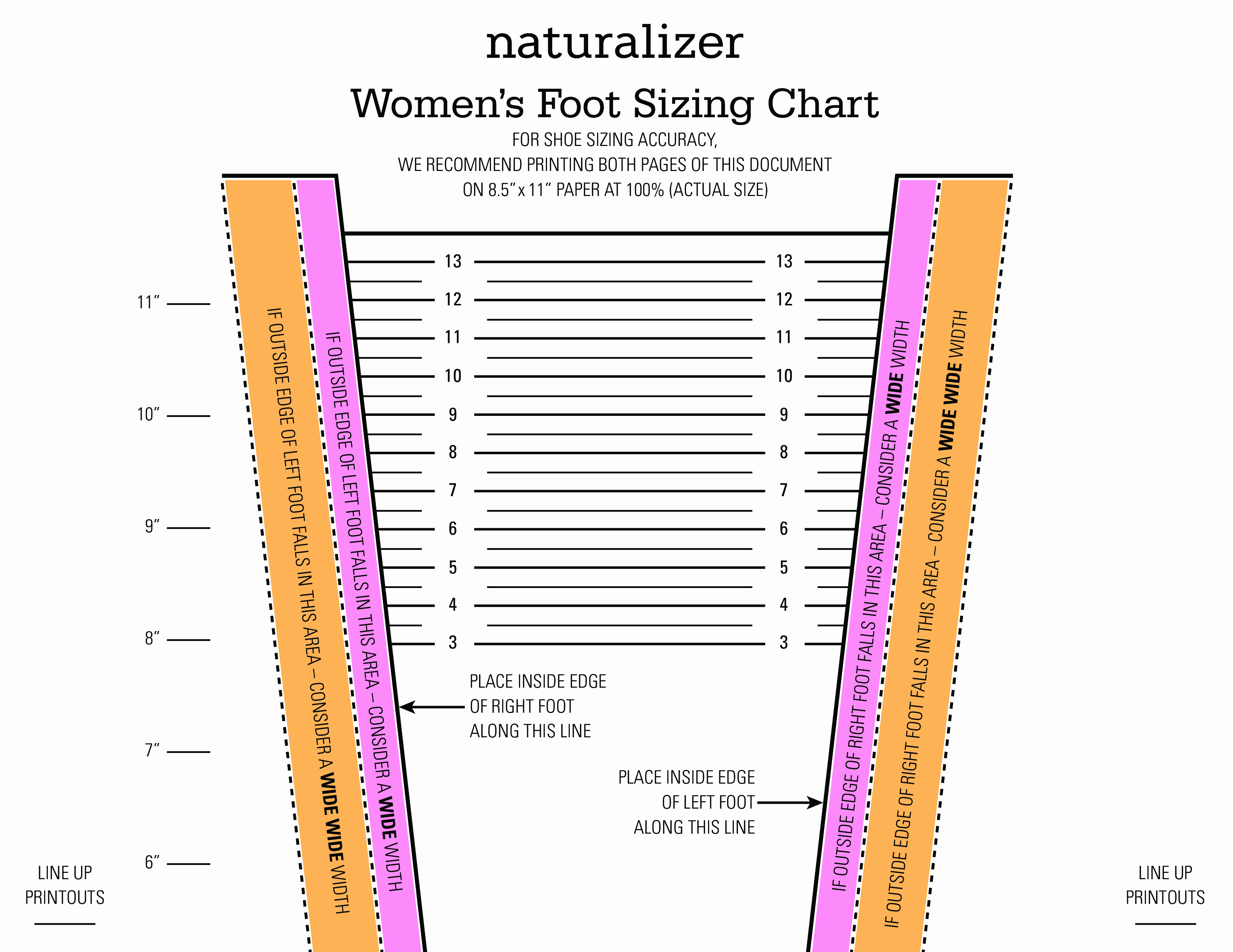 Foot Measurement Chart Printable Beautiful Foot Width Chart