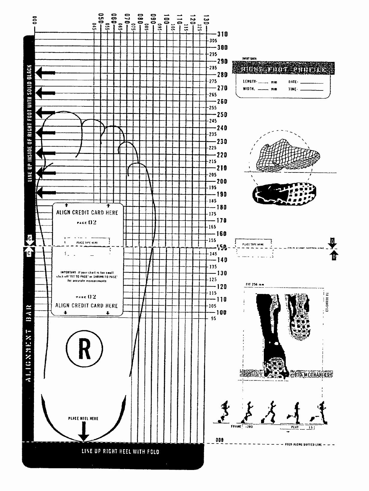 Foot Measurement Chart Printable Inspirational Printable Shoe Size Chart