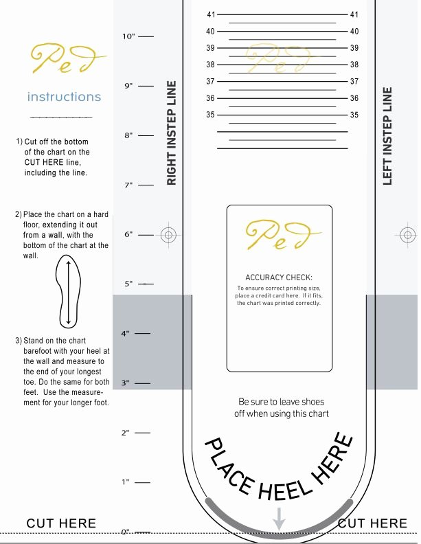 Foot Measurement Chart Printable Lovely Pin by Ped Shoes On Ped Cetera