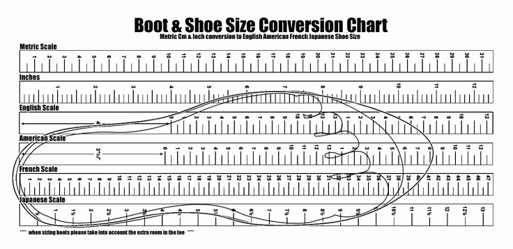 Foot Measurement Chart Printable Luxury Us Shoe Size Chart Printable