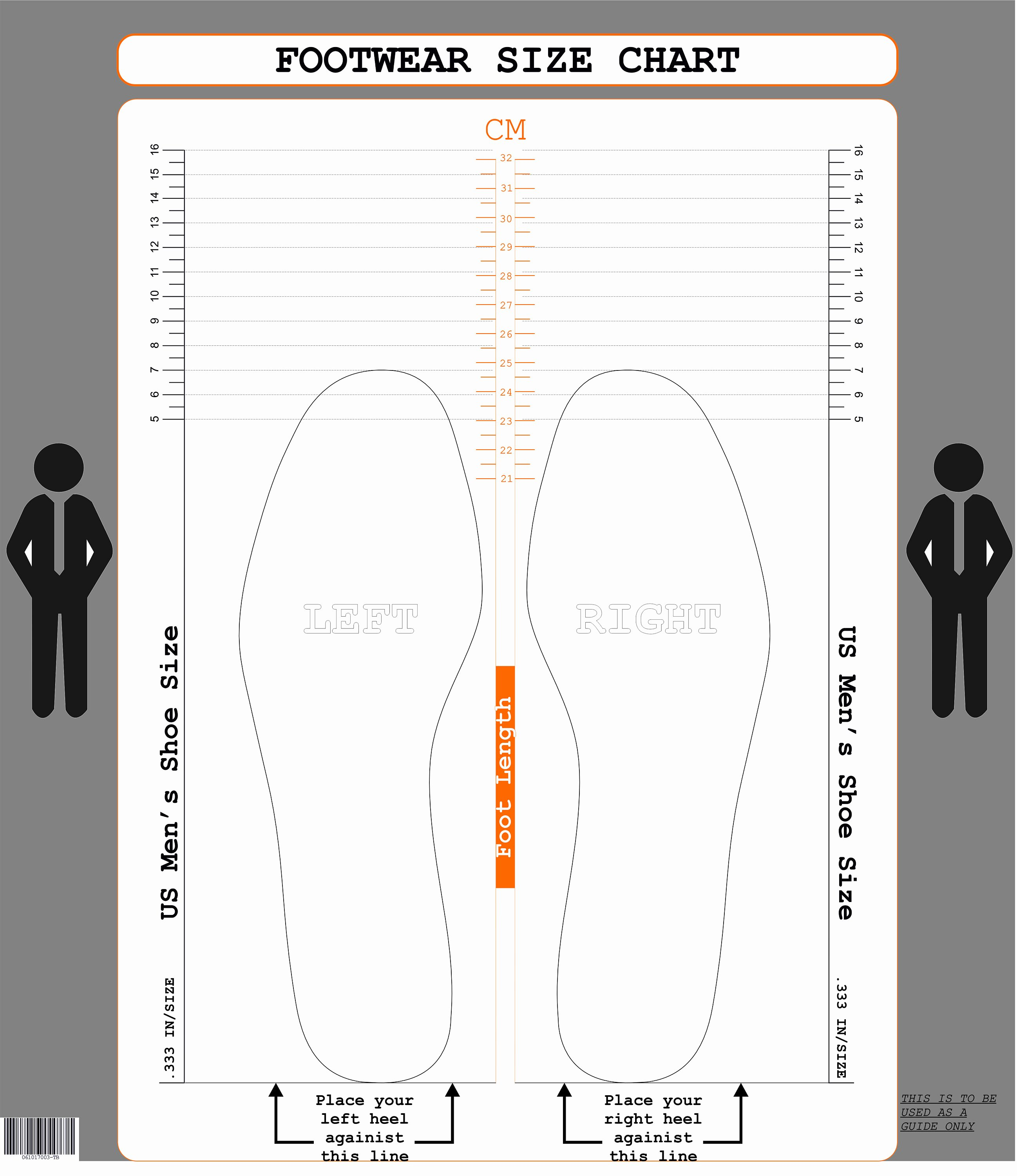 Foot Measurement Chart Printable Unique Us Men S Size Cm Printable Shoe Size Chart Foot