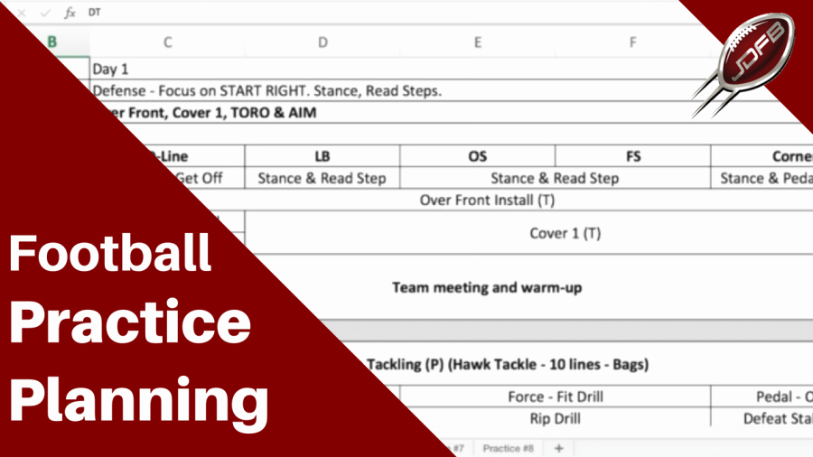 Football Practice Plan Sheet Elegant Joe Daniel Football Page 32 Of 121 Coach Simple Play