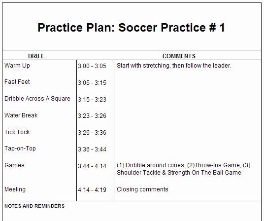 Football Practice Plan Sheet Inspirational Basketball Practice Plan Template