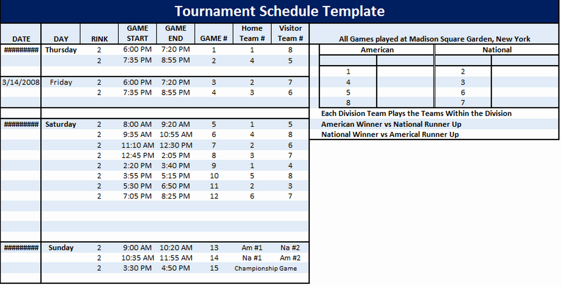 Football Practice Schedule Template Elegant 6 Free tournament Schedule Templates In Ms Word and Ms Excel