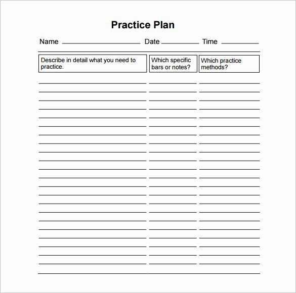 Football Practice Schedule Template Lovely 12 Practice Schedule Templates Docs Pdf