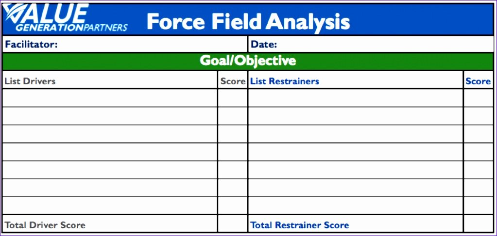 Force Field Analysis Template Word Luxury 6 Goals Excel Template Exceltemplates Exceltemplates
