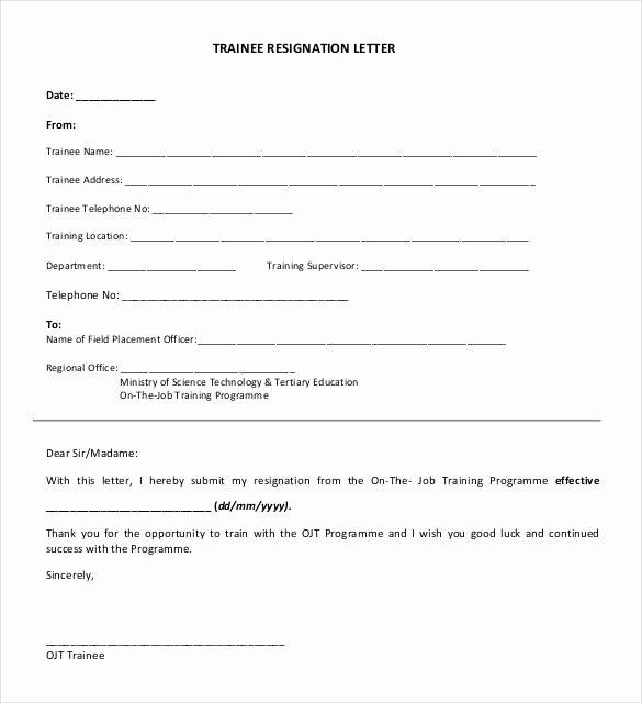 Form Letter Of Resignation Beautiful 39 Simple Resignation Letter Templates Pdf Doc