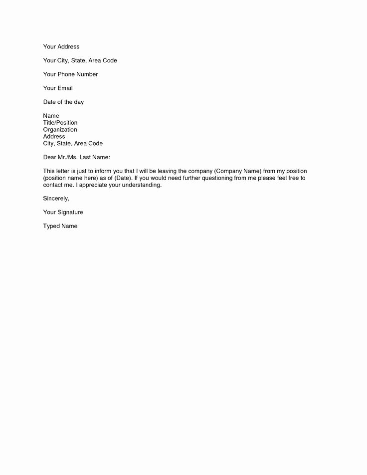 Form Letter Of Resignation Fresh Best 25 Simple Resignation Letter format Ideas On