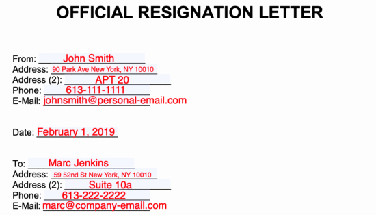Form Letter Of Resignation Luxury Resignation Letter Sample Unhappy Employee