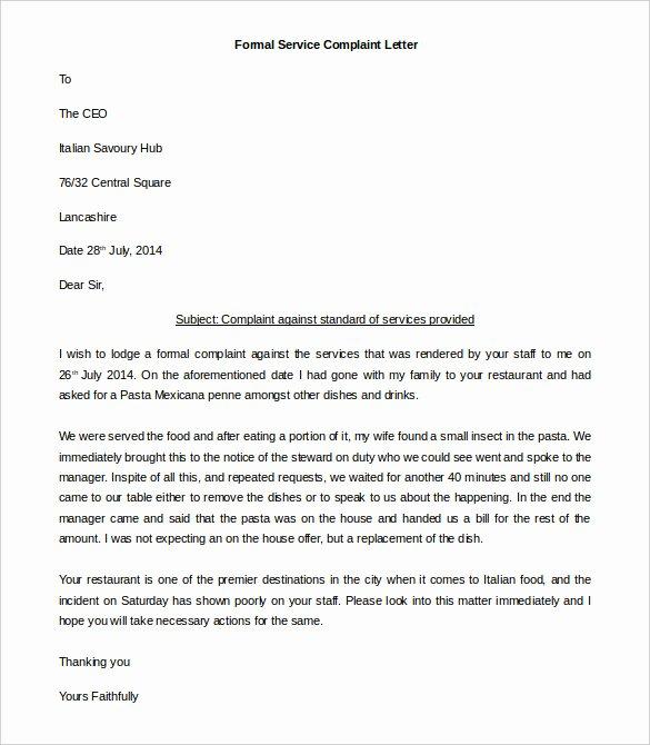 Formal Complaint Letter Template Best Of Blog Archives Designerfilecloud