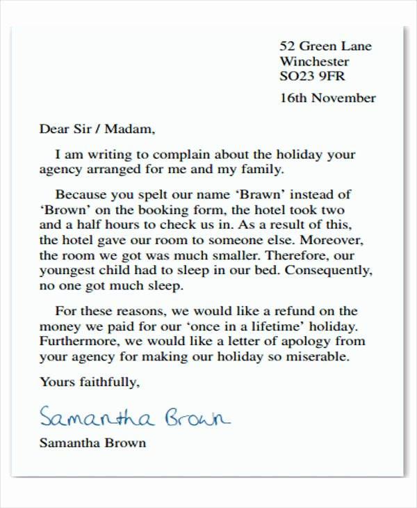 Formal Complaint Letter Template Best Of Plaint Letter formats