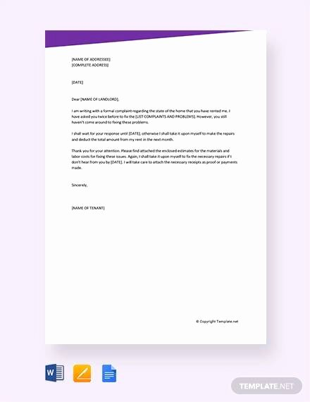 Formal Complaint Letter Template Fresh Sample formal Plaint Letter 12 Examples In Word Pdf