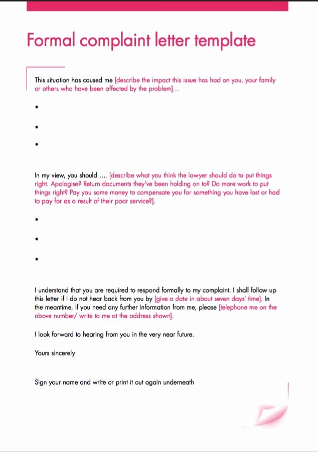 Formal Complaint Letter Template New Pin by Ririn Nazza On Free Resume Sample