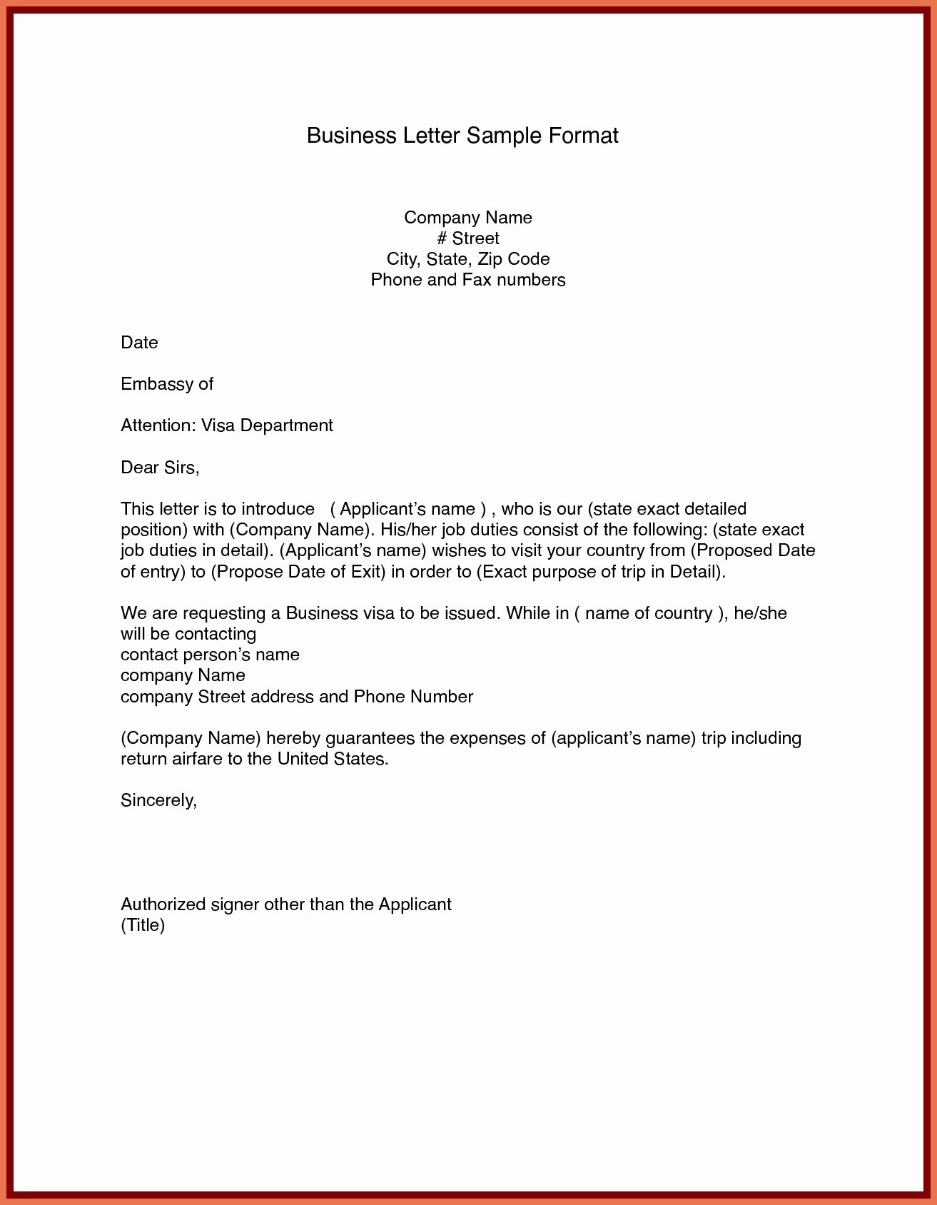 Formal Letter Heading Example Best Of Sample Business Letter format