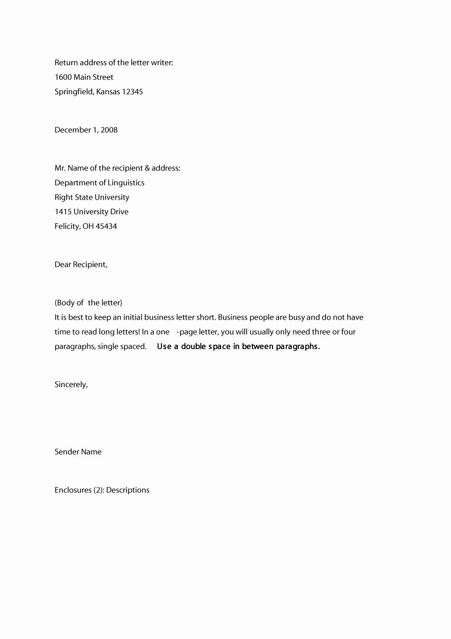 Formal Letter Heading Example Luxury 35 formal Business Letter format Templates & Examples