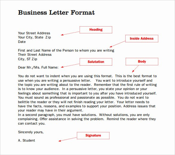 Formal Letter Heading Example New 20 formal Letter Templates Word Pdf Apple Pages
