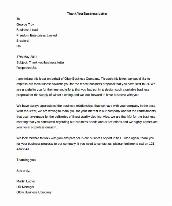 Formal Letter Template Word Best Of Business Letter format