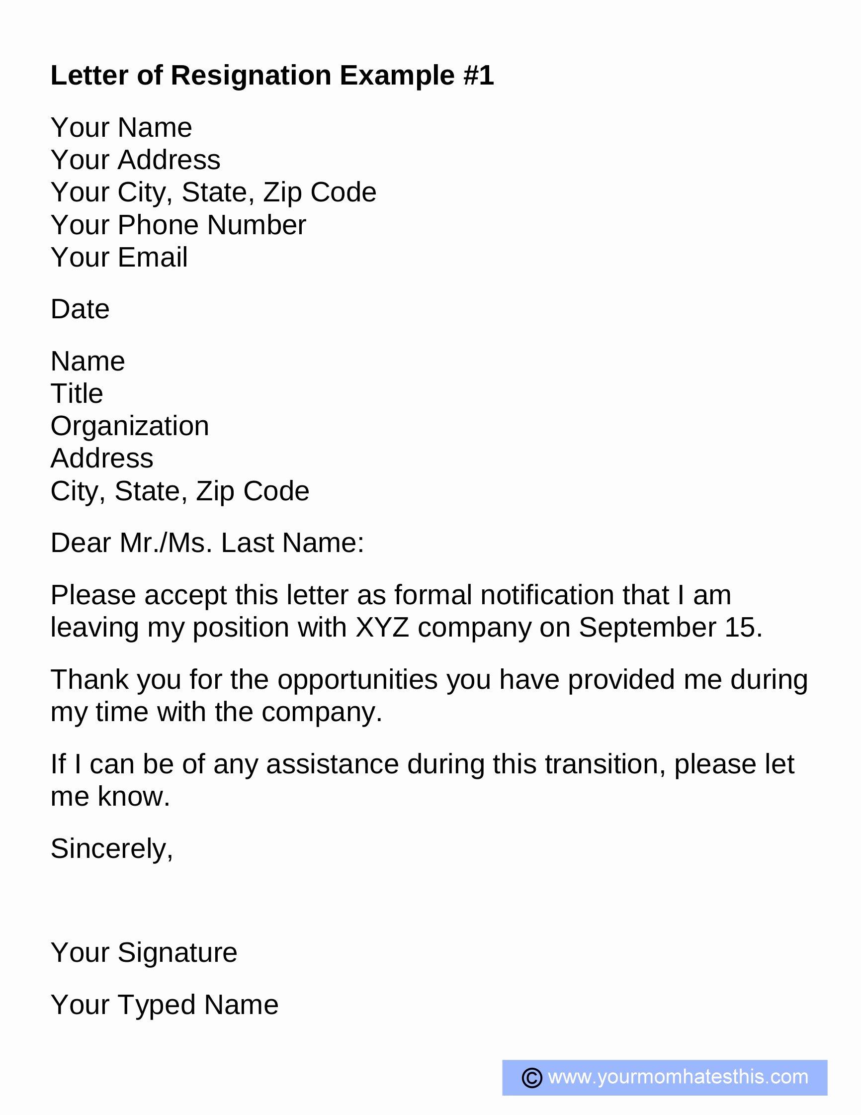 Formal Letters Of Resignation Fresh Resignation Letter Samples Download Pdf Doc format