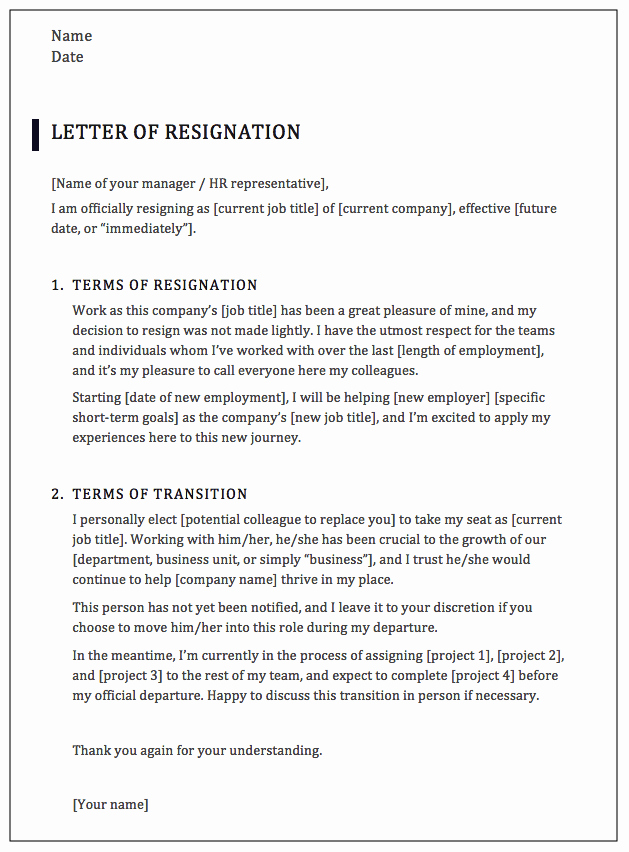 Formal Letters Of Resignation Inspirational How to Write A Professional Resignation Letter [samples