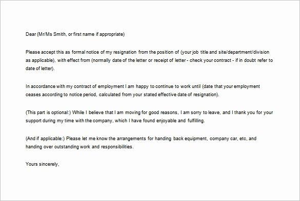 Formal Resignation Letter Samples Elegant 16 formal Resignation Letter Templates Pdf Doc