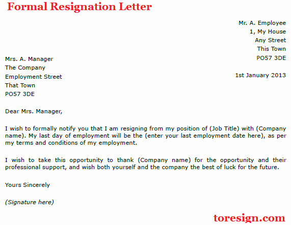 Formal Resignation Letter Samples Fresh Resignation Letter Example Due to Illness toresign