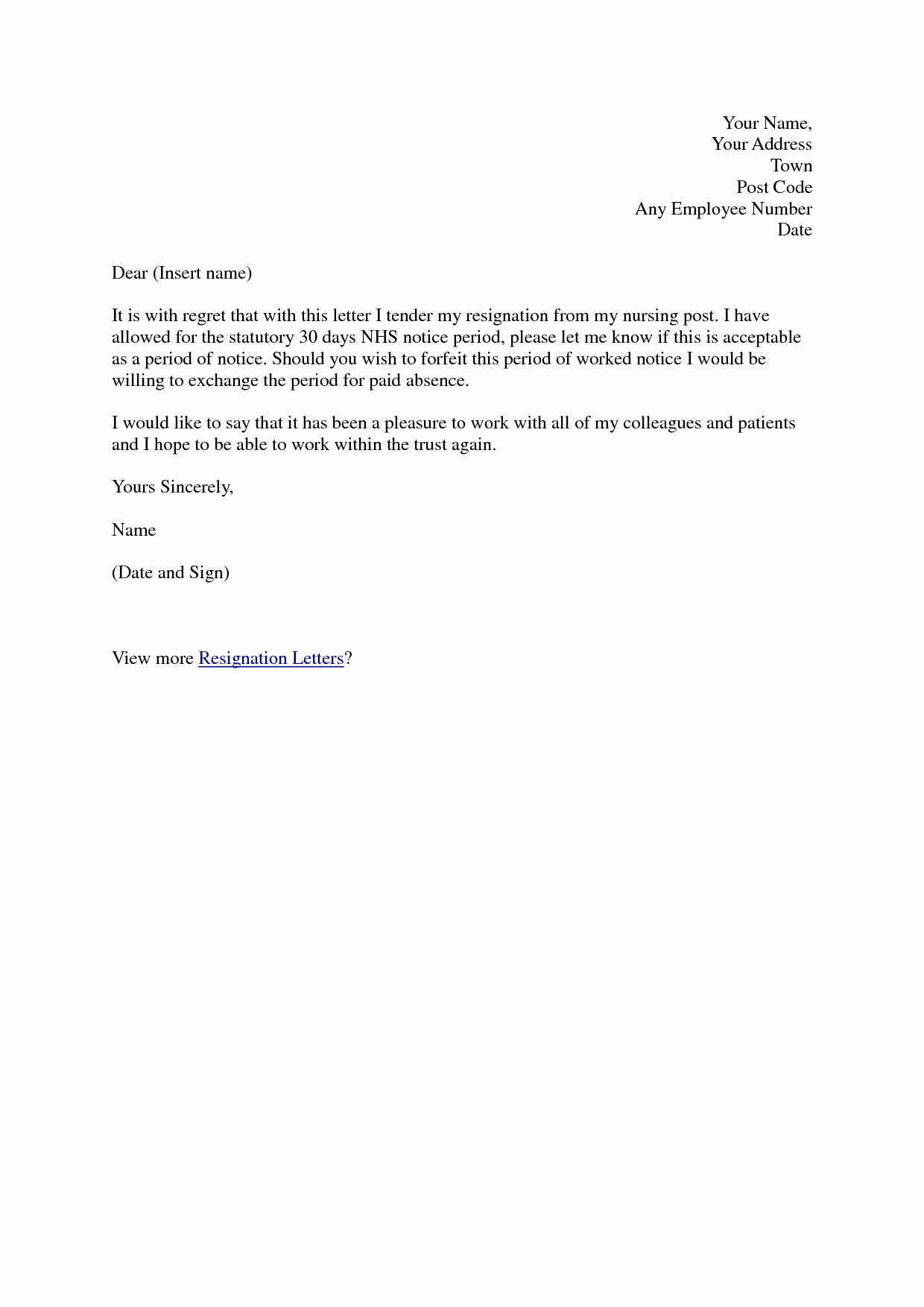 Formal Resignation Letter Samples Unique Best S Of formal Resignation Letter Sample formal