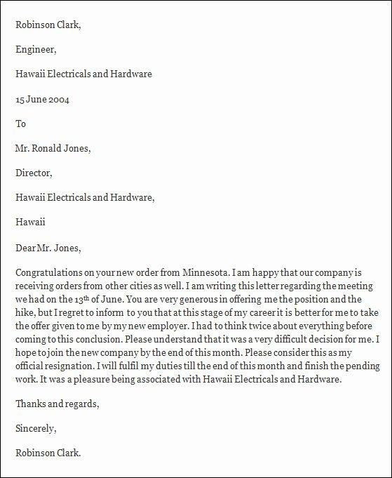Formal Resignation Letters Sample Elegant Free 40 formal Resignation Letters Templates In Pdf