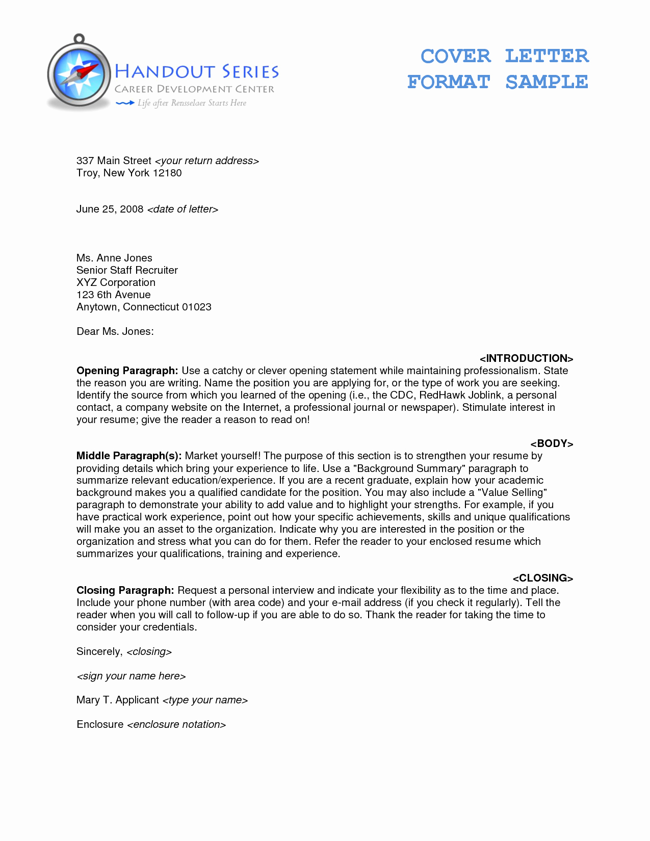 Format for A Business Letter Elegant Enclosures Letter format