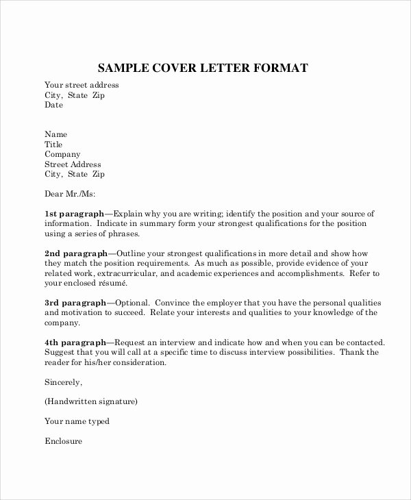 Format for A Business Letter Lovely 8 Sample Business Letter formats Pdf Word