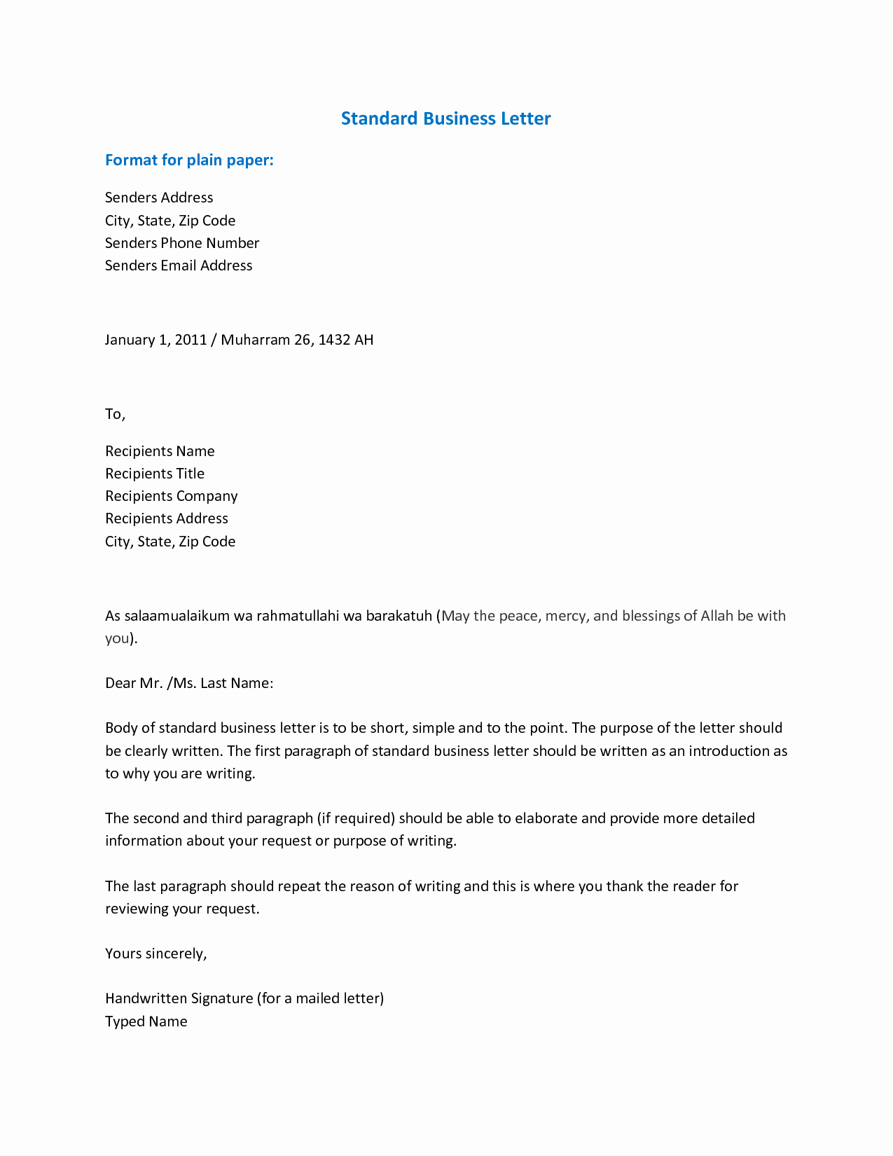 Format for A Business Letter New Importance Knowing the Business Letter format