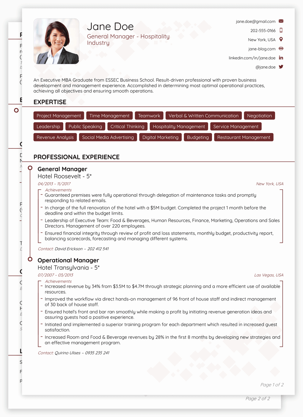 Format for Curriculum Vitae Awesome 2018 Cv Templates [download] Create Yours In 5 Minutes