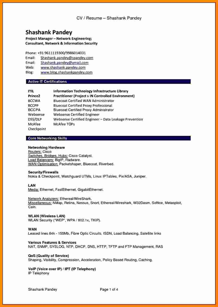 Format for Curriculum Vitae Awesome 7 Cv Resume Sample Pdf