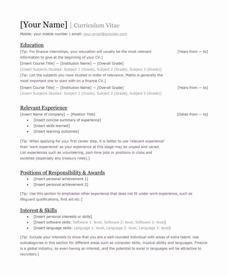 Format for Curriculum Vitae Fresh Best Kenyan Cv format and Requirements In 2019 Tuko