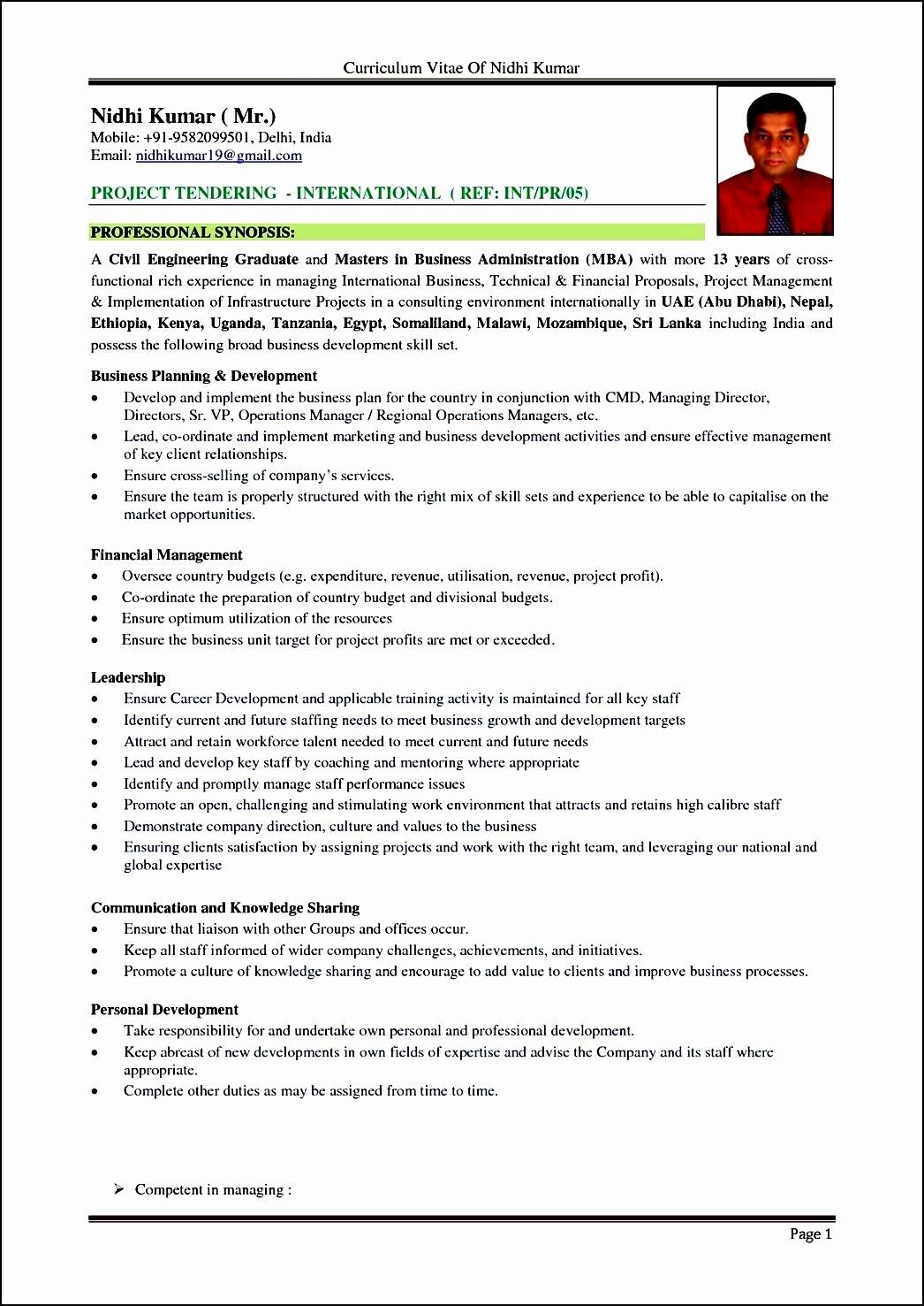 Format for Curriculum Vitae Fresh Curriculum Vitae format In Sri Lanka