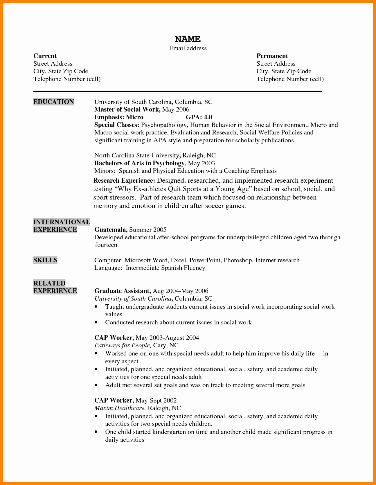 Format for Curriculum Vitae Luxury 10 Cv format Sample for Students