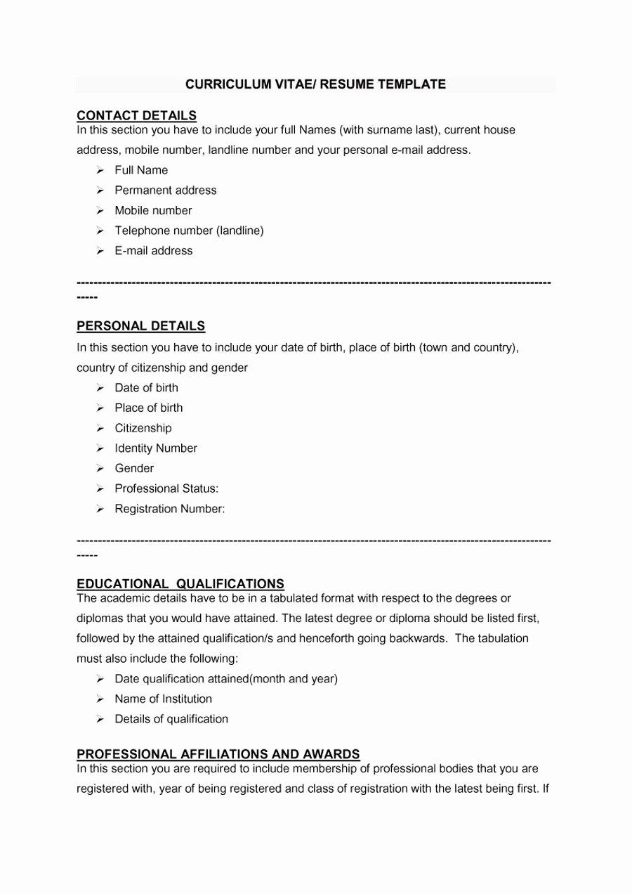 Format for Curriculum Vitae New 48 Great Curriculum Vitae Templates & Examples Template Lab