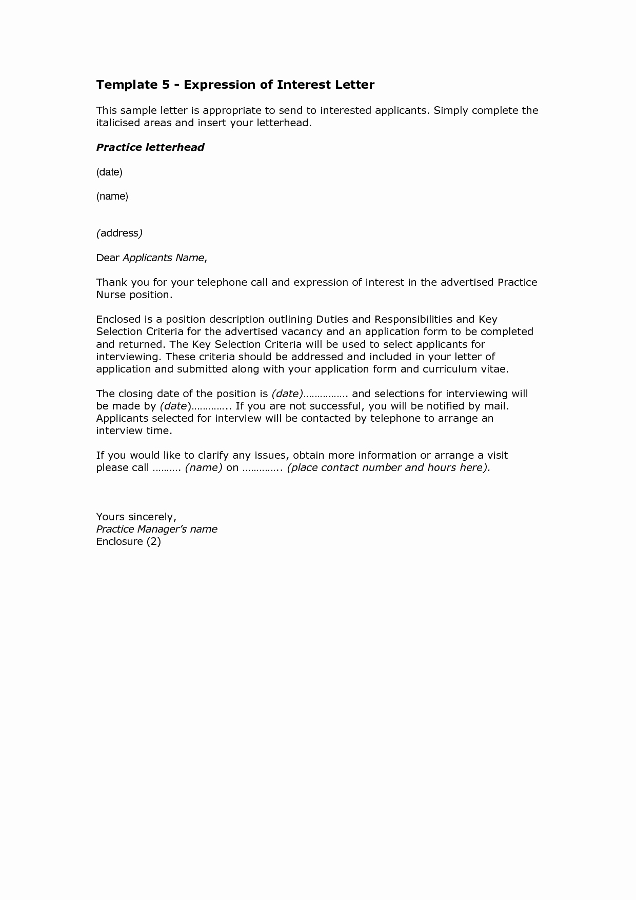 Format for Letter Of Interest Awesome 10 How to Write A Letter Of Interest format