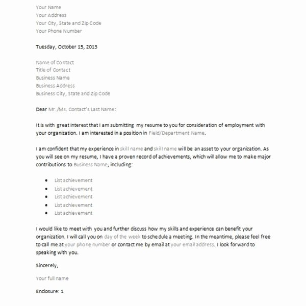 Format for Letter Of Interest Fresh Letter Of Interest or Inquiry 4 Sample Downloadable