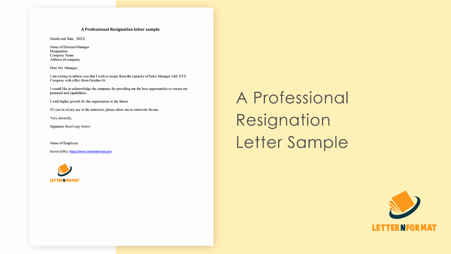 Format for Resignation Letter New Resignation Letter for Not Happy with Fice Management