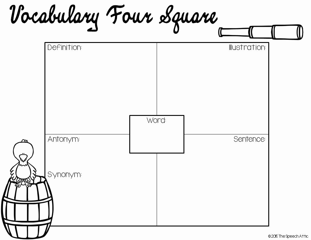 Four Square Writing Template Printable Awesome the Speech attic Wacky Wednesday Book Club Pirates Don T