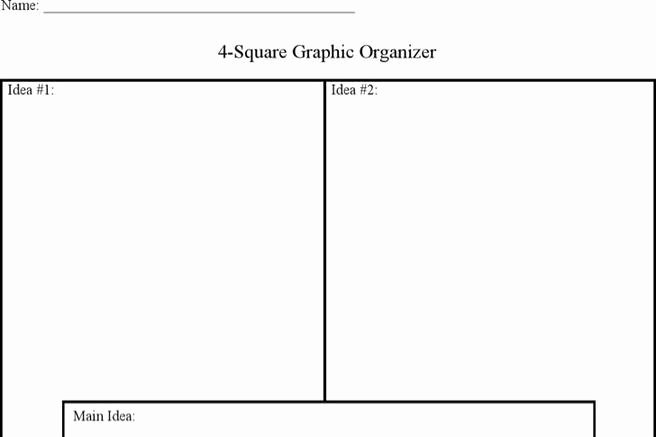 Four Square Writing Template Printable Best Of 2 Four Square Writing Templates Free Download